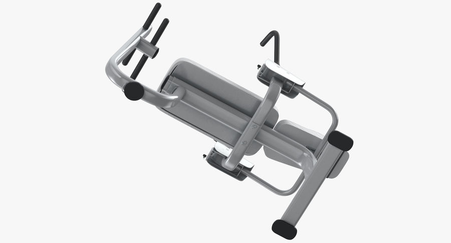 Ab Bench royalty-free 3d model - Preview no. 9