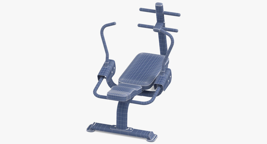 Ab Bench royalty-free 3d model - Preview no. 15
