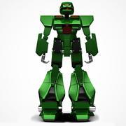 Grön robot 3d model