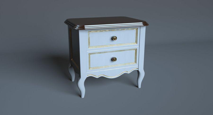 Прикроватный столик royalty-free 3d model - Preview no. 3