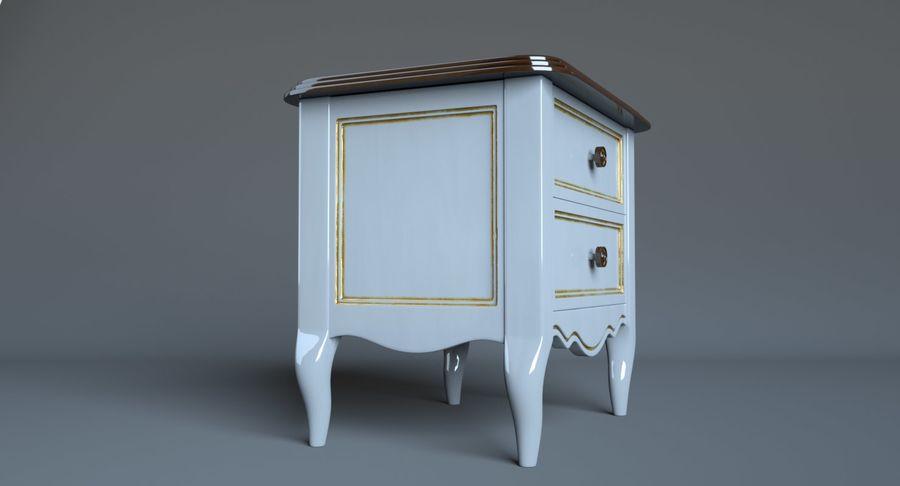 Прикроватный столик royalty-free 3d model - Preview no. 6