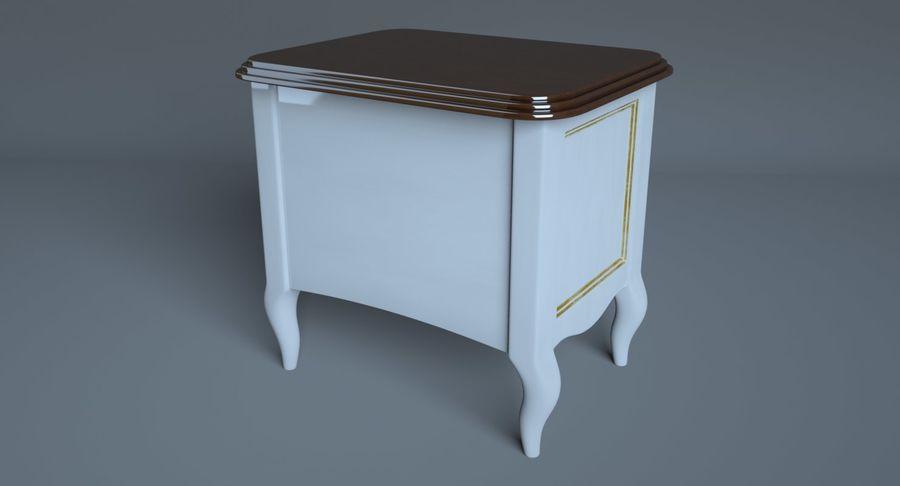 Прикроватный столик royalty-free 3d model - Preview no. 7