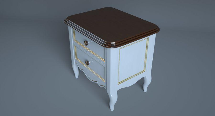 Прикроватный столик royalty-free 3d model - Preview no. 4