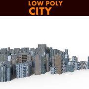 Stad Laag Poly 3d model