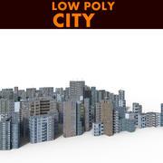 시티 로우 폴리 3d model