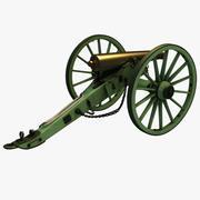 Civil War Model 1857 12-Pounder Napoleon Field Gun 3d model