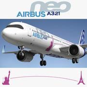 Airbus A321LR Neo 3d model