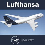 Boeing 748 Lufthansa NL 3d model
