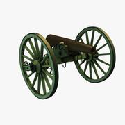 南軍の南北戦争モデル1857 12ポンド砲ナポレオンフィールドガン 3d model