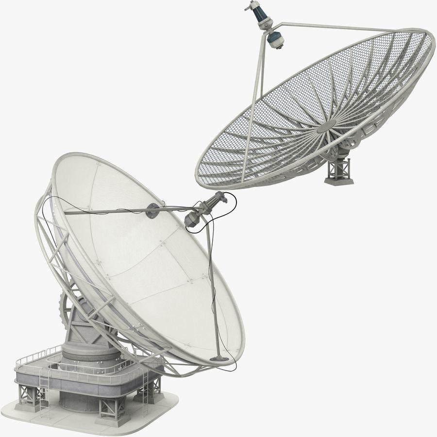 Uydu Antenleri Seti V7 royalty-free 3d model - Preview no. 1