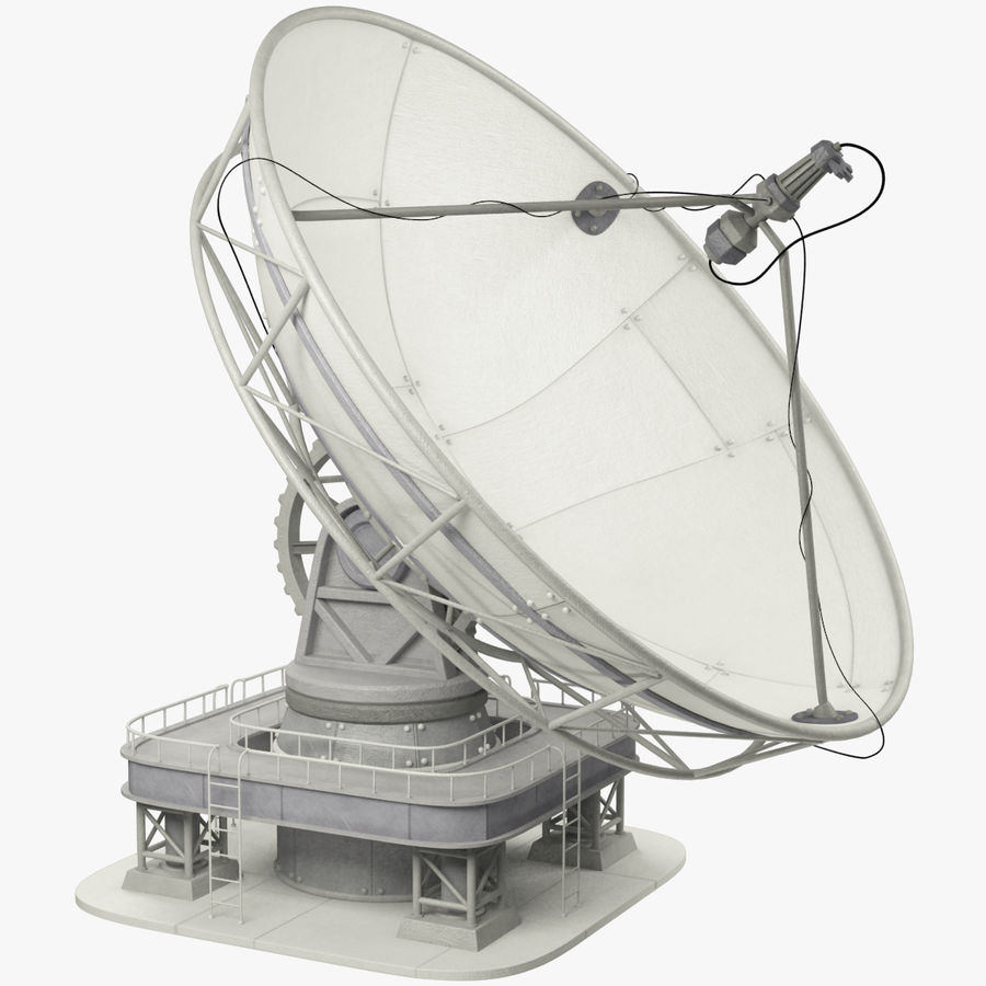 Uydu Antenleri Seti V7 royalty-free 3d model - Preview no. 2