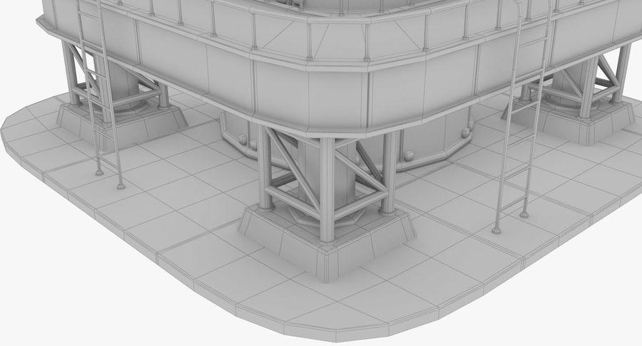 Parabolantenn V7 royalty-free 3d model - Preview no. 19
