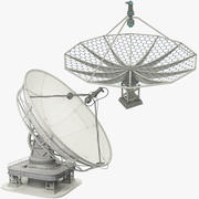 Satellite Dishes Set V8 3d model