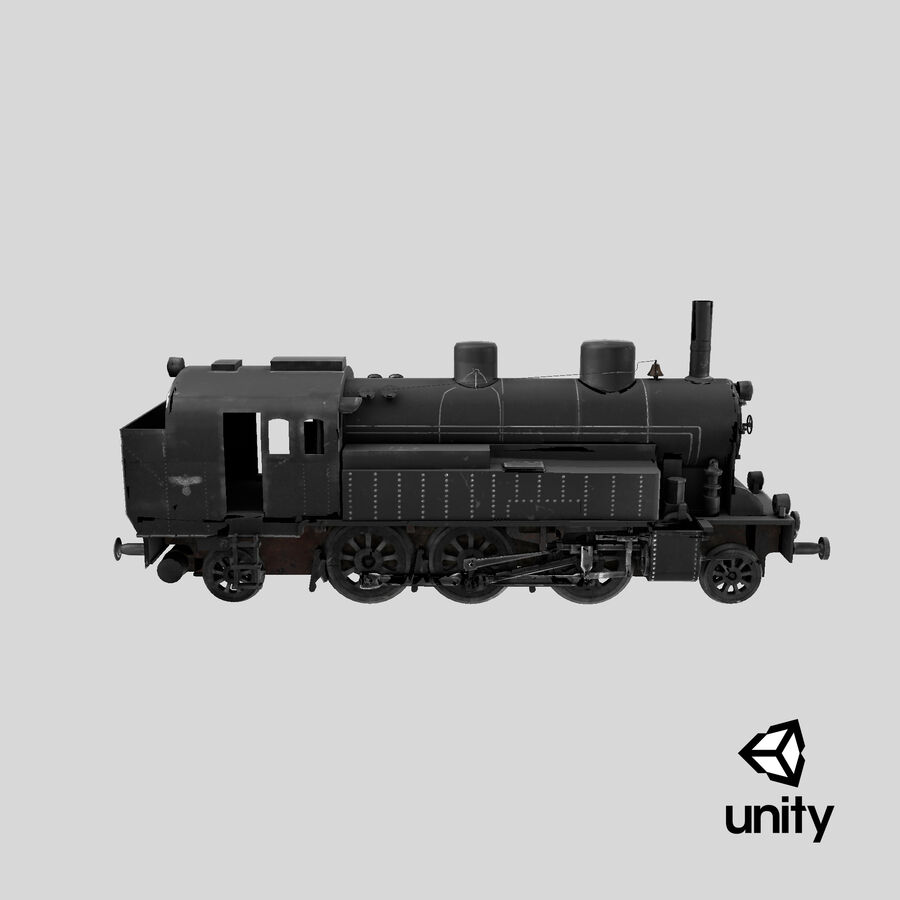 Train royalty-free 3d model - Preview no. 26