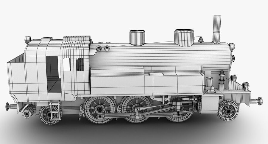 Train royalty-free 3d model - Preview no. 12