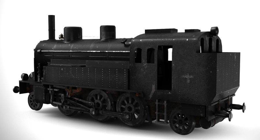 Train royalty-free 3d model - Preview no. 6