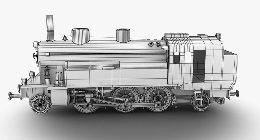 Train royalty-free 3d model - Preview no. 9