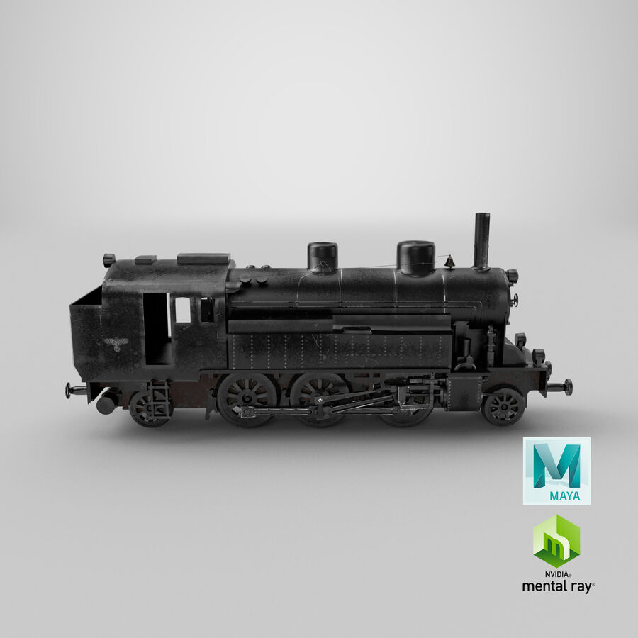 Train royalty-free 3d model - Preview no. 14