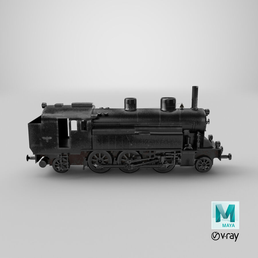 Train royalty-free 3d model - Preview no. 13