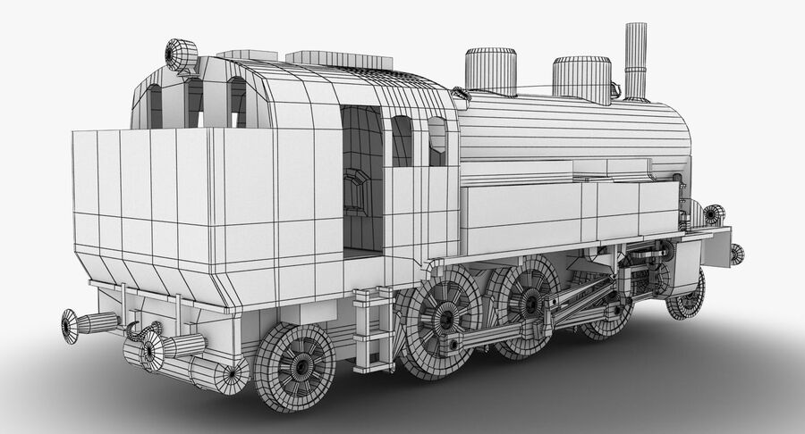 Train royalty-free 3d model - Preview no. 11