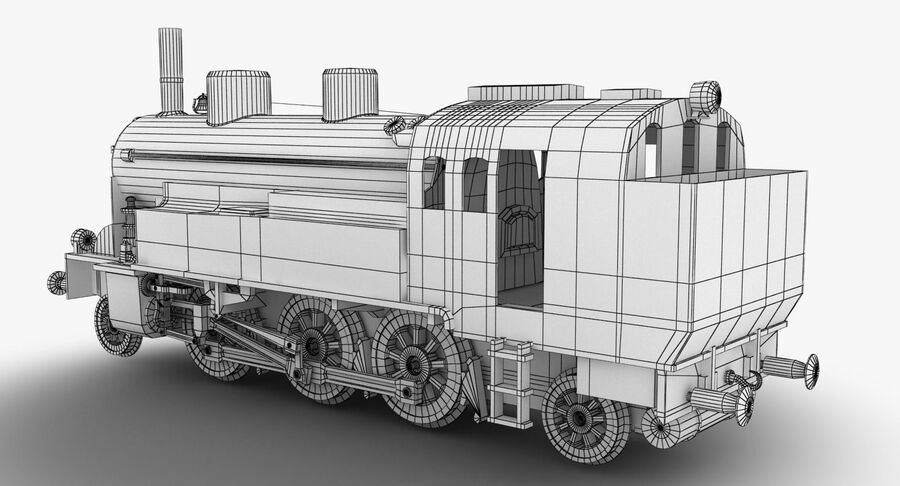 Train royalty-free 3d model - Preview no. 10