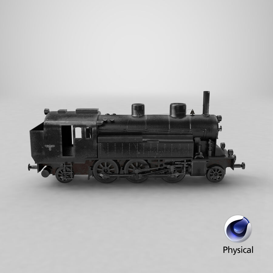 Train royalty-free 3d model - Preview no. 25