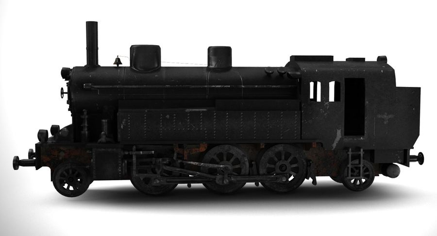 Train royalty-free 3d model - Preview no. 5
