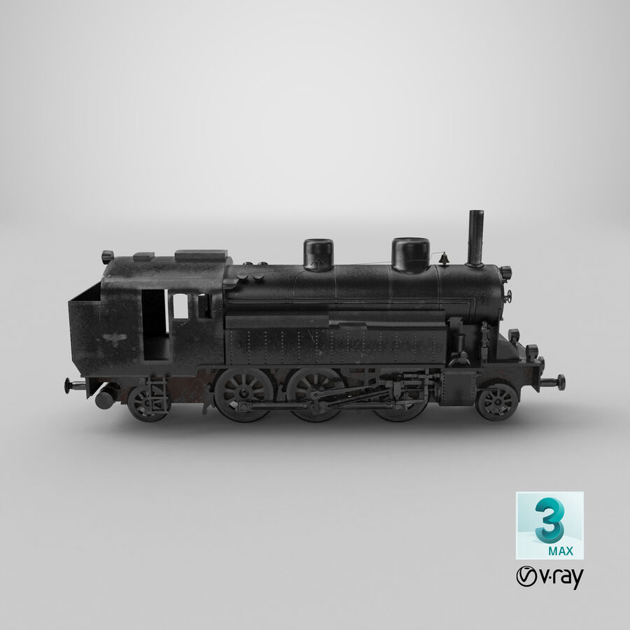 Train royalty-free 3d model - Preview no. 15