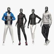 Sport suit set mixed 2 3d model