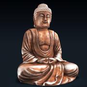 Posąg Buddy z brązu 3d model