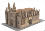 Cathedral of Palma, Mallorca, Balearic Islands. 3d model