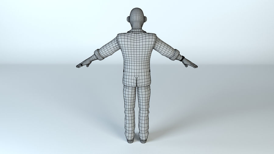 卡通坏人 royalty-free 3d model - Preview no. 9