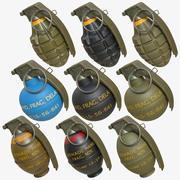 Pack de grenades 02 3d model
