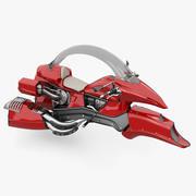 미래의 오토바이 3d model