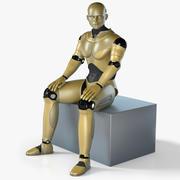 男性ロボットリギング 3d model