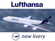 Lufthansa havayollarının Boeing 747-8'i yeni ünvan içinde. 3 boyutlu model. 3d model