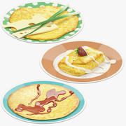Pancakes on Plate Collection V3 3d model