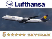 """Boeing 747-8 of Lufthansa airlines with """"5 Star Hansa"""" titles. 3D model 3d model"""