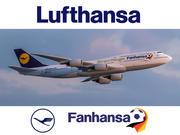 Lufthansa havayolları Boeing 747-8. Fanhansa üniforma. 3 boyutlu model 3d model
