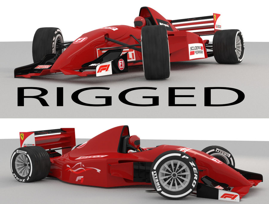 F1 car royalty-free 3d model - Preview no. 1