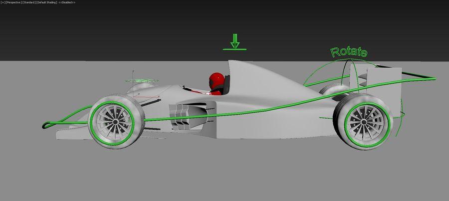 F1 car royalty-free 3d model - Preview no. 9