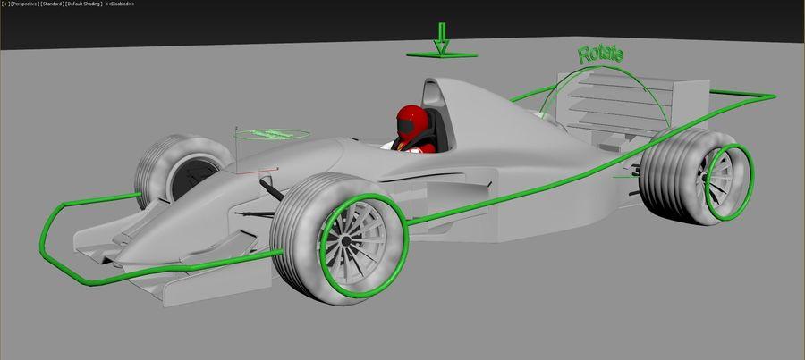 F1 car royalty-free 3d model - Preview no. 8