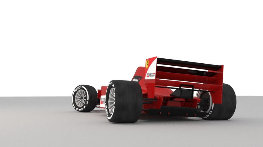 F1 car royalty-free 3d model - Preview no. 4