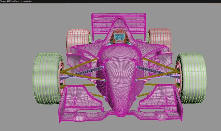 F1 car royalty-free 3d model - Preview no. 12