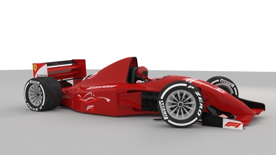 F1 car royalty-free 3d model - Preview no. 3