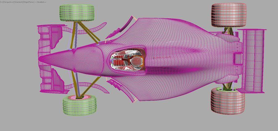 F1 car royalty-free 3d model - Preview no. 13