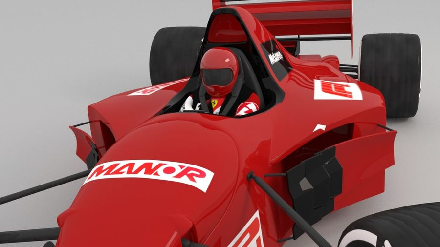 F1 car royalty-free 3d model - Preview no. 7