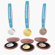2018年オリンピックメダルセット 3d model