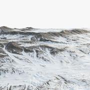 Pianura del terreno innevato 3d model