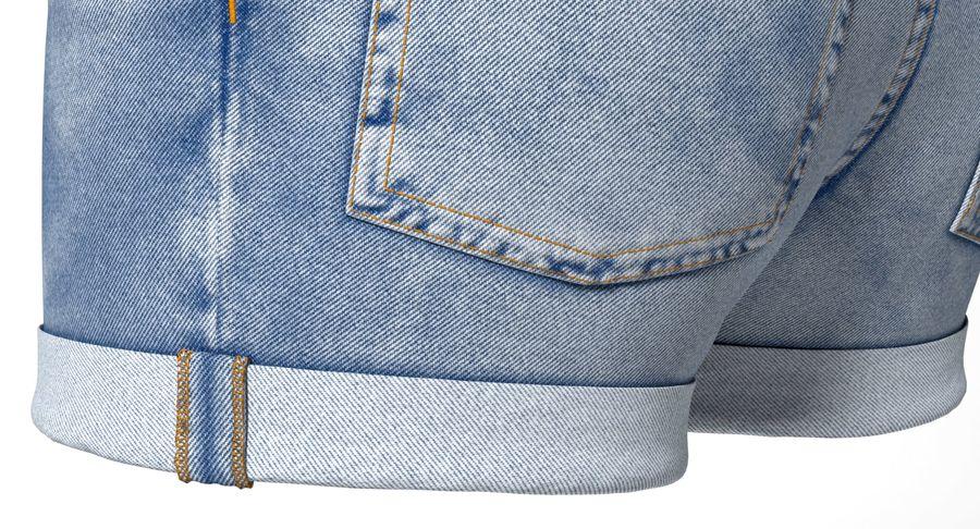 Jeansshorts für Frauen royalty-free 3d model - Preview no. 4